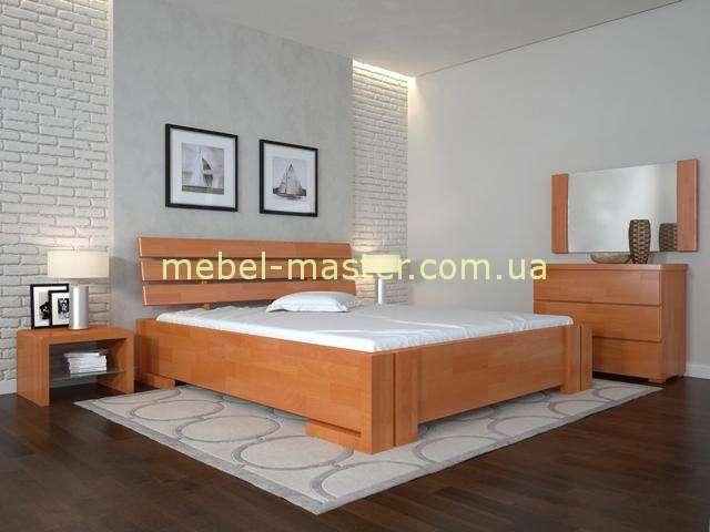 Кровать из дерева Домино. Цвет ольха.