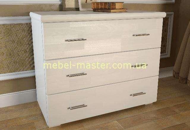 Белый комод для спальни в эко стиле