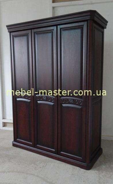Резной шкаф на 3 двери для спальни Флоренция, Микс Мебель