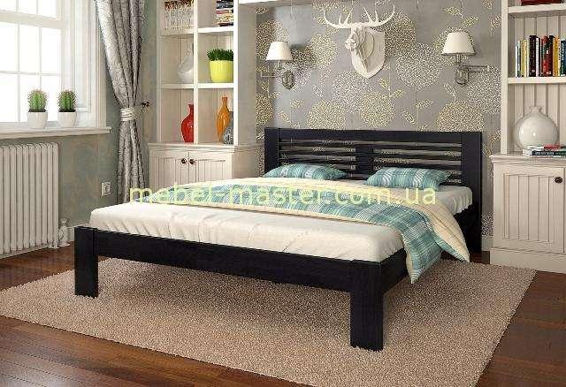 Деревянная кровать из массива ясеня Шопен, Мадера