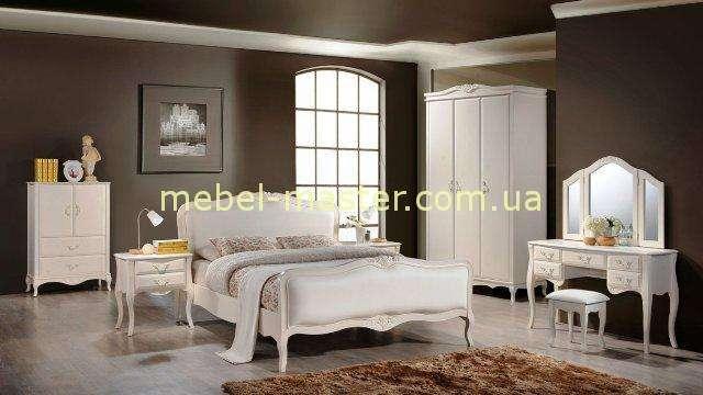 Комплект белой мебели для спальни Богемия, Домини