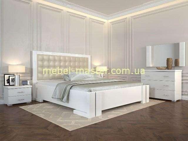 Недорогая белая кровать из натурального дерева Регина, Арбор