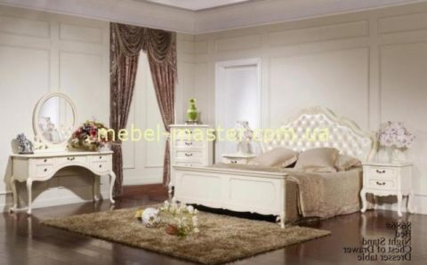Комплект белой мебели для спальни Эпока 8686, Китай