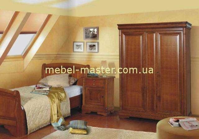 Двухдверный деревянный шкаф Жасмин, Мобекс. Цвет орех