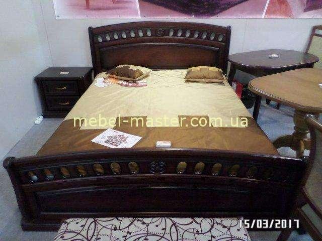 Кровать 1600 с твердым изголовьем в спальню Флоренция, Микс Мебель