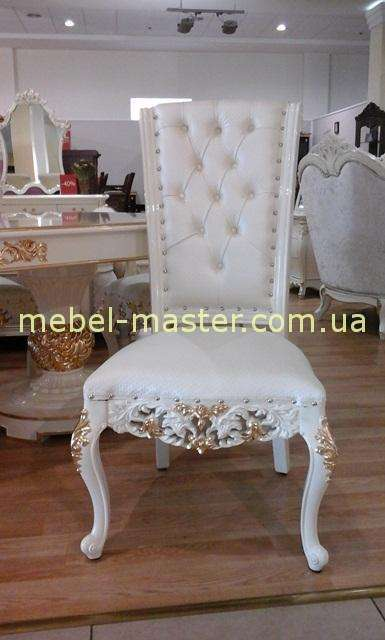 Обеденный белый стул Эрмитаж с золотом, Джосс