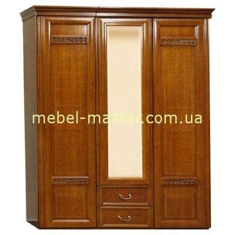 Деревянный трехдверный шкаф Романтик Люкс, Румыния, Мобекс
