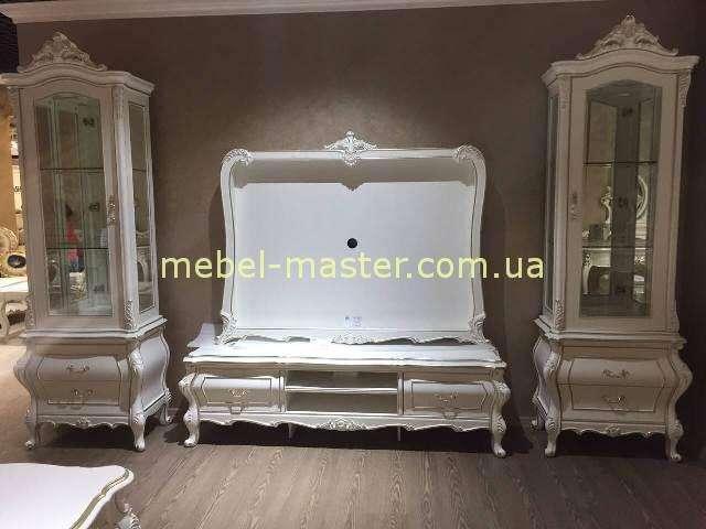 Белая ТВ стенка Версаль в гостиную, Энигма