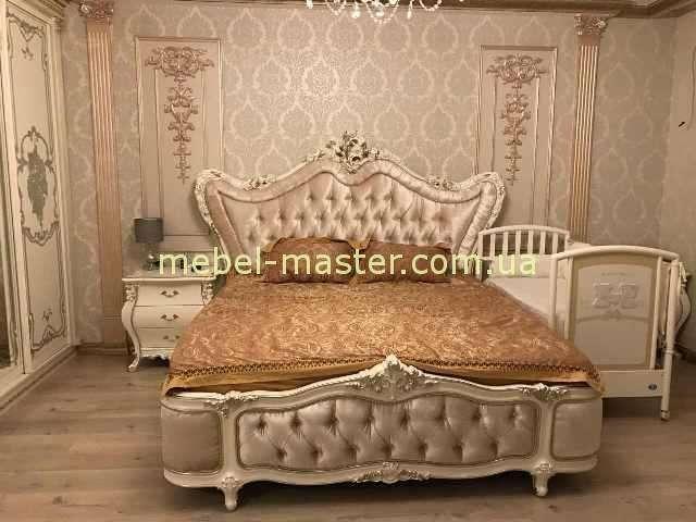 Стильная кровать Шампань с мягким изголовьем, Энигма