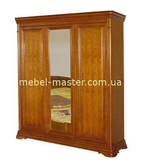 Трехдверный деревянный шкаф Элеганс, Мобекс, Румыния в цвете черешня