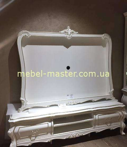 ТВ стенка в белом цвете с серебром Версаль, Энигма