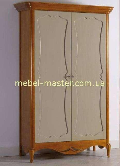 Двухдверный комбинированый шкаф для одежды в спальню Венетта