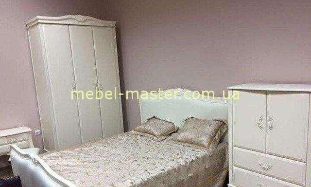 Белый комплект мебели для спальни Богемия, Домини