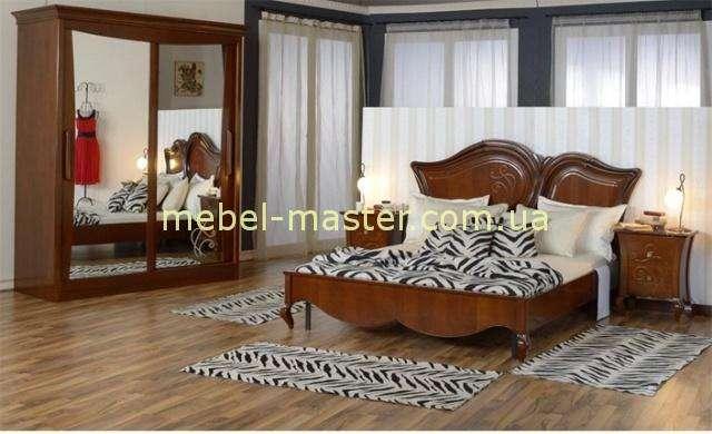 Шкаф купе для спальни Капри. Румыния в цвете орех