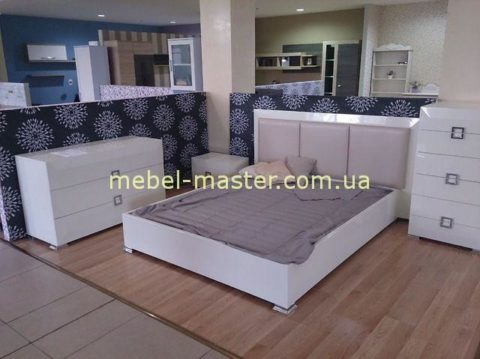 Белая глянцевая мебель для спальни Карат Вайт, Аквародос