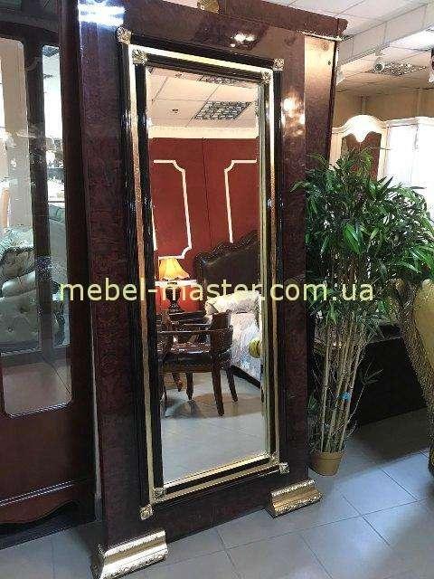 Напольное зеркало в темной оправе с золотом Эрмитаж, Джосс