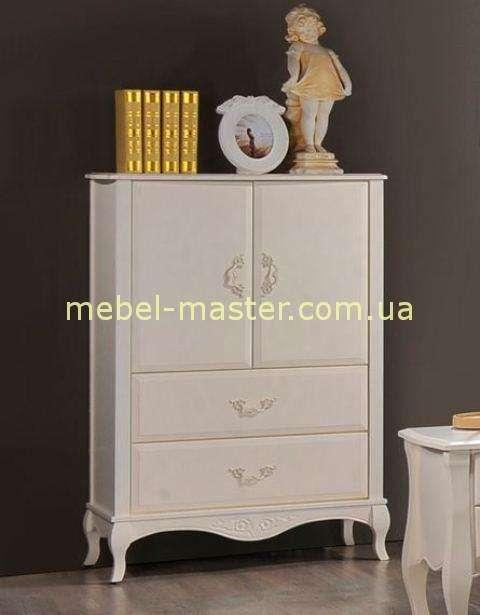 Белый комод для спальни Богемия, Домини