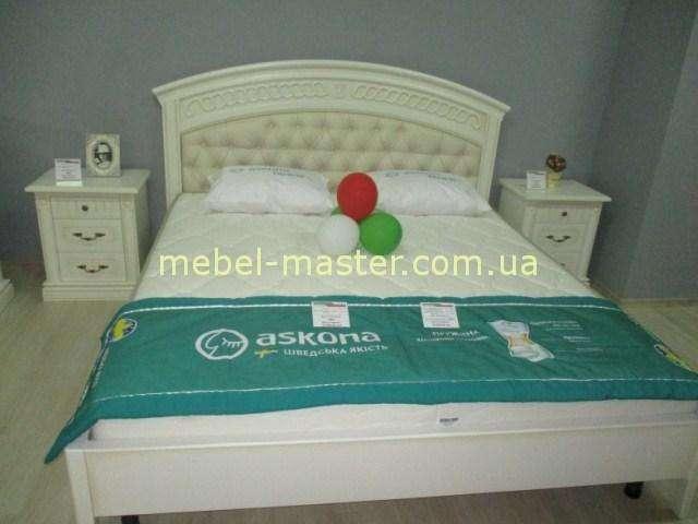 Кровать с круглым изголовьем Анжелика. Массив натурального дерева.