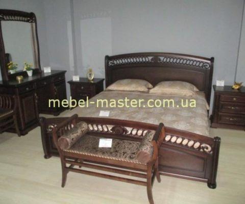 Ореховая мебель для спальни Доминика. Массив дерева. Италконцепт.