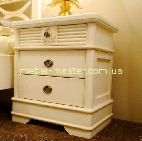 Белая деревянная прикроватная тумбочка Валенсия