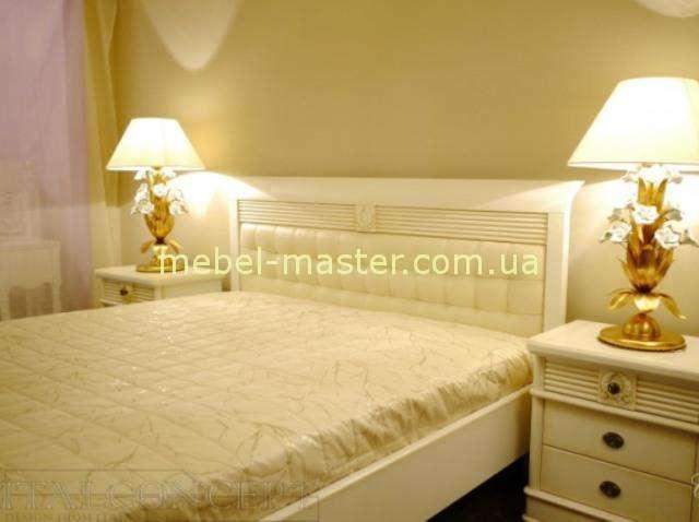 Белая деревянная кровать Валенсия, Италконцепт
