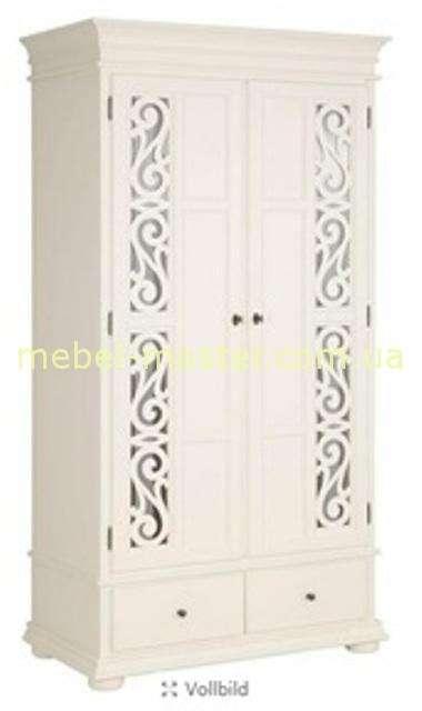 Белый двухдверный шкаф Арабеска, Румыния