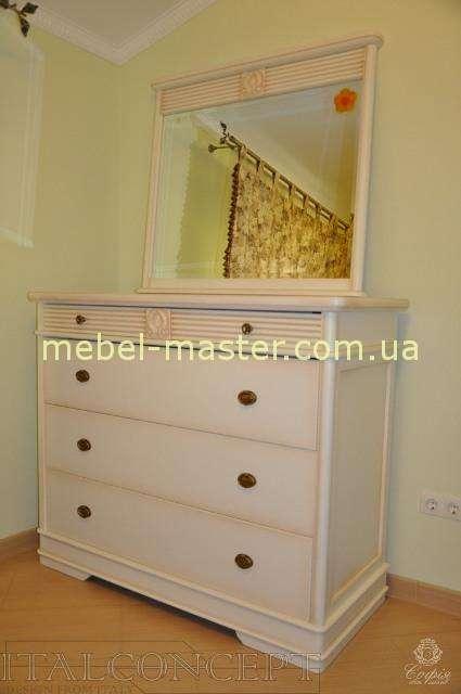 Белый деревянный комод Валенсия, Италконцепт