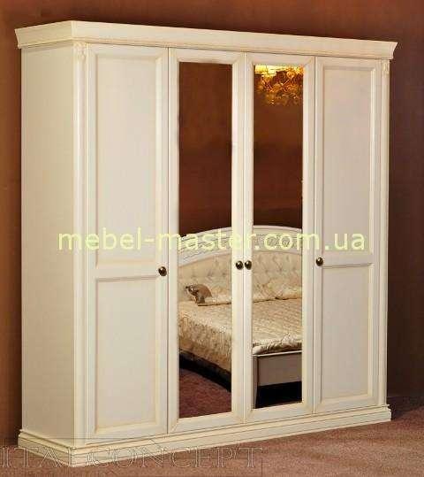 Четырехдверный шкаф с зеркалами Анжелика, Италконцепт