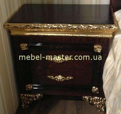 Темная тумба с золотом в спальню Эрмитаж, Джосс