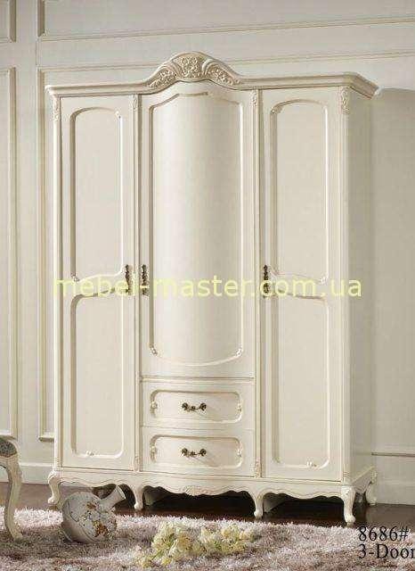 Белый трехдверный шкаф для спальни Эпока 8686, Китай