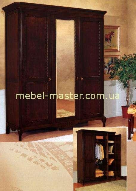 Классический трехдверный деревяннй шкаф с зеркалом Париж, Мобекс