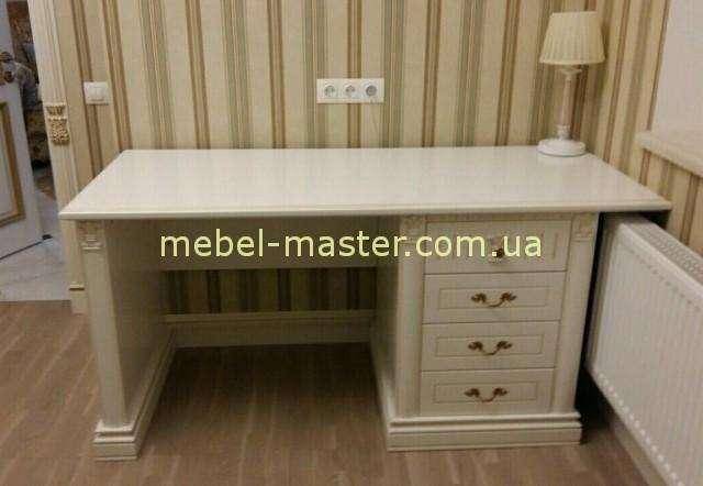 Письменный белый деревянный стол Анжелика. Италконцепт.