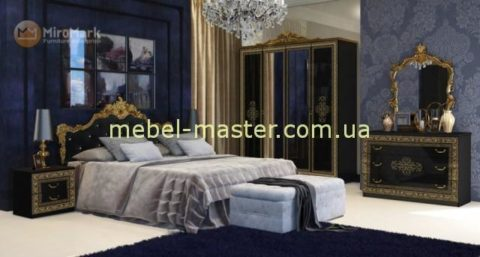 Королевская кровать с мягким изголовьев в спальню Дженифер, Миро Марк