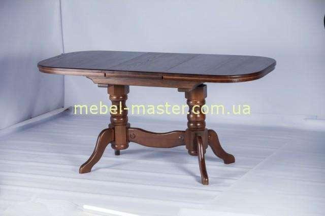 Недорогой ореховый раскладной обеденный стол Карен, РумерИн