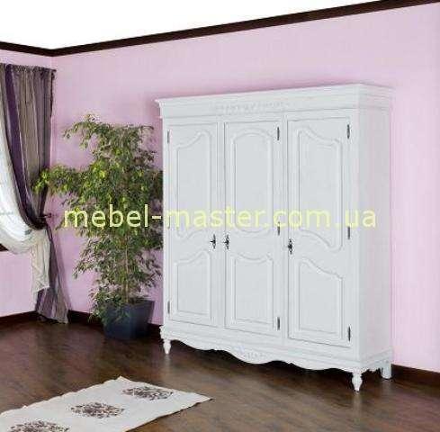 Белый шкаф Лаванда в стиле Прованс с эффектом старины, Мобекс