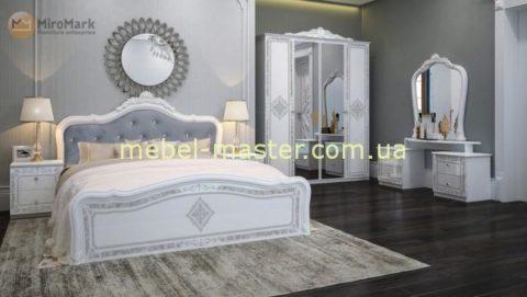 Белая глянцевая мебель Луиза в классическом стиле, МироМарк
