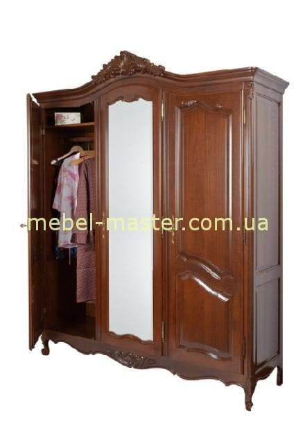 Резной ореховый шкаф на три двери Могадор, Мобекс, Румыния