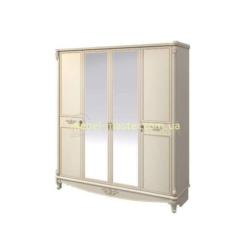Белый шкаф на 4 двери для спальни Версаль, Аквародос