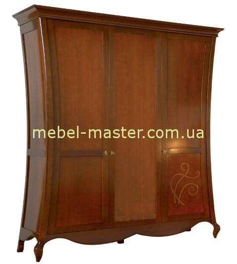 Трехдверный фигурный шкаф Капри без зеркал, Мобекс