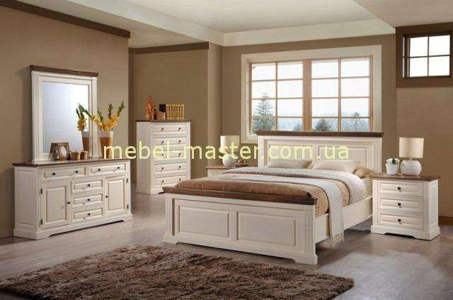 Белая деревянная спальня Калифорния в стиле Прованс, Домини