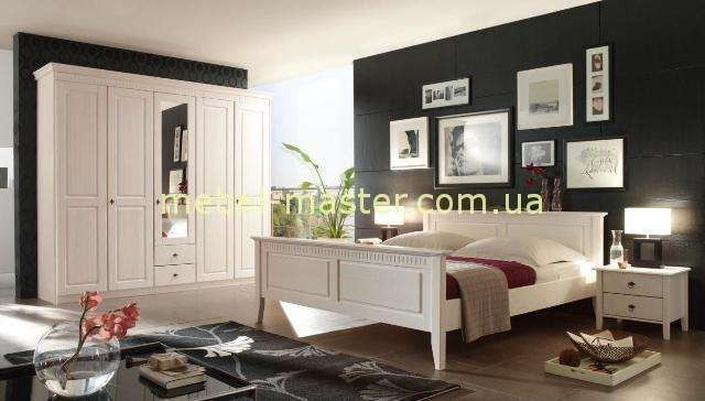 Недорогой белый комплект мебели для спальни Боцен, Белоруссия