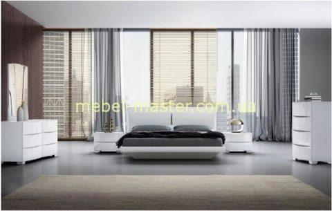 Мебельный гарнитур Турин из белого глянцевого МДФ, Китай