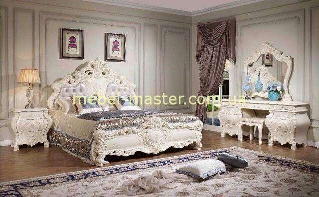 Белый резной мебельный гарнитур Венеция, Силик