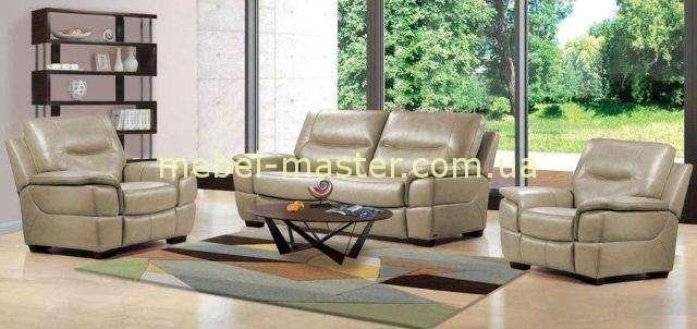 Кремовый диван в эко-коже Дайтона, Аримакс