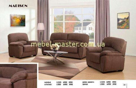 Недорогой коричневый диван в стиле модерн Мэдисон, Аримакс