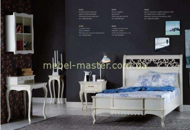 Деревянная кровать Матео с резным изголовьем. Мобекс