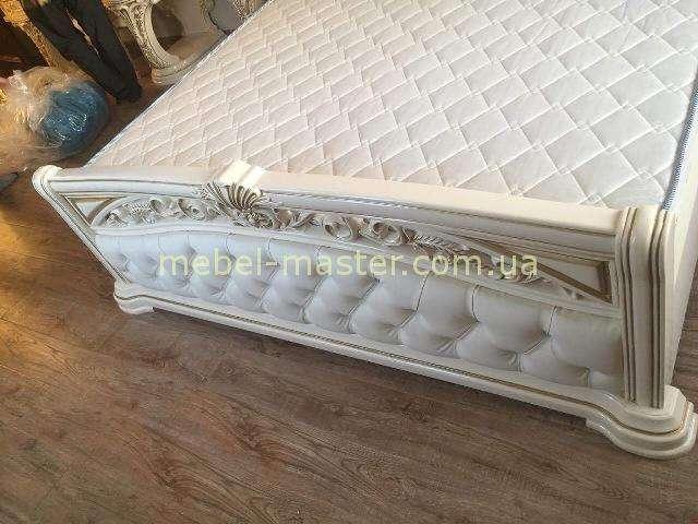 Изножье кровати Латифа в белом цвете