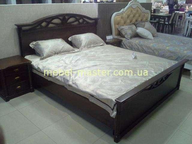 Кровать с изножьем из массива натурального дерева Афина, Украина
