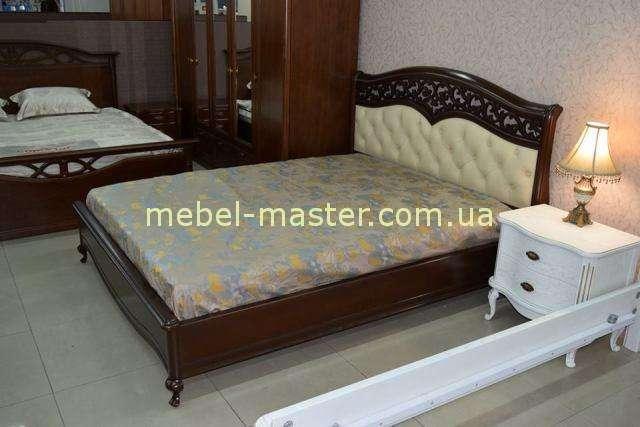 Коричневая кровать с мягким изголовьем Верона, Украина