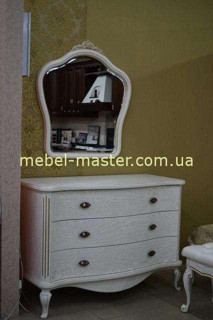 Белый комод из массива дуба Марсель, Украина